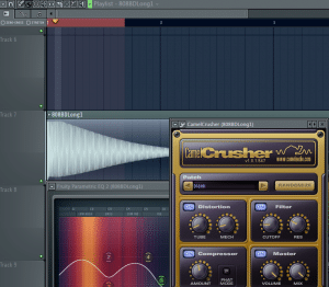 Add distortion with the camelcrusher plugin